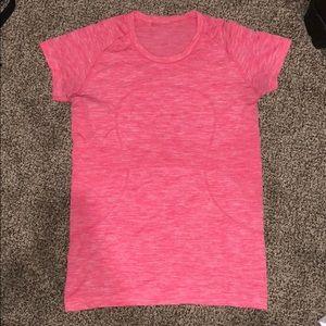 Lululemon Athletica Pink Swiftly Tech Short Sleeve